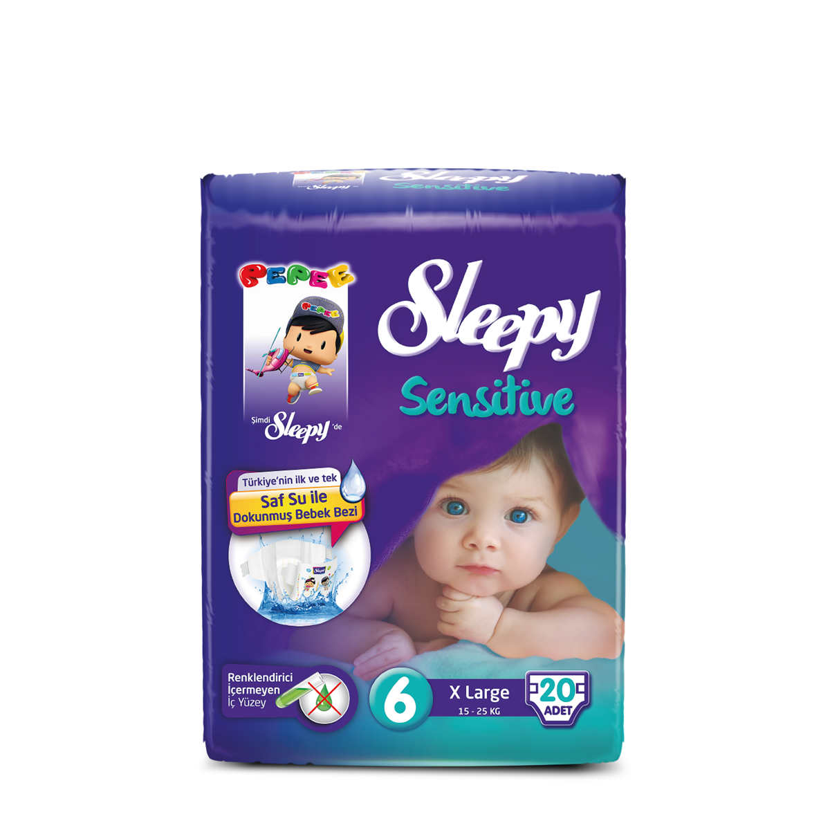 Sleepy Sensitive Pepee Xlarge  6 Numara Bebek Bezi