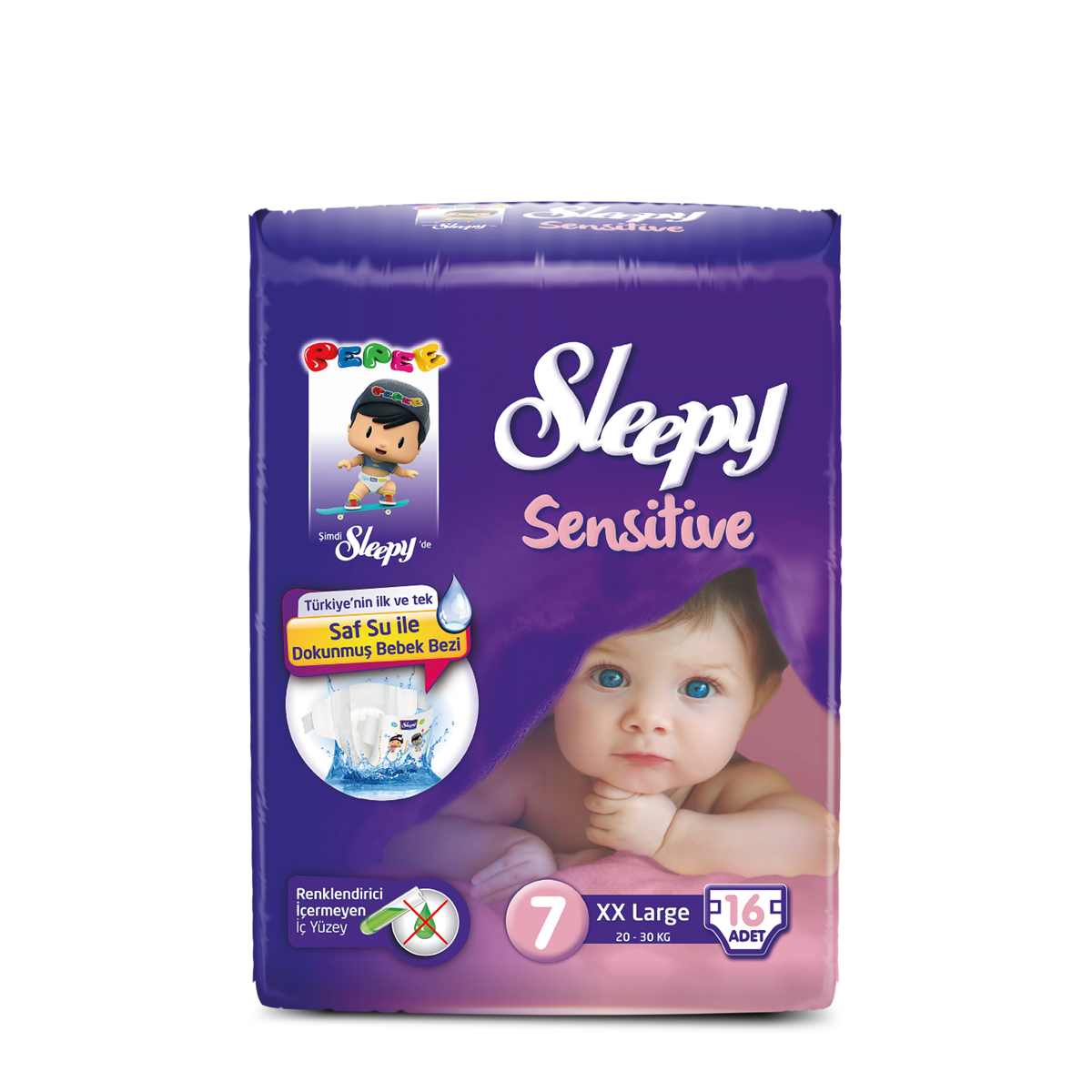 Sleepy Sensitive Pepee XX Large  7 Numara Bebek Bezi