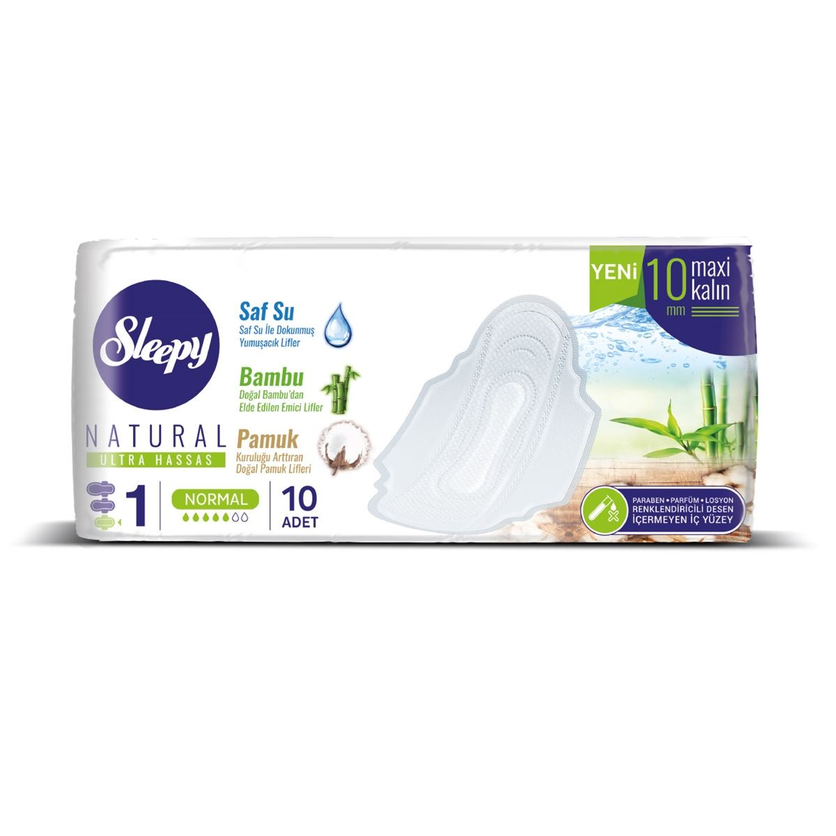 Sleepy Natural Ultra Hassas Maxi Kalın NORMAL (10 Ped)