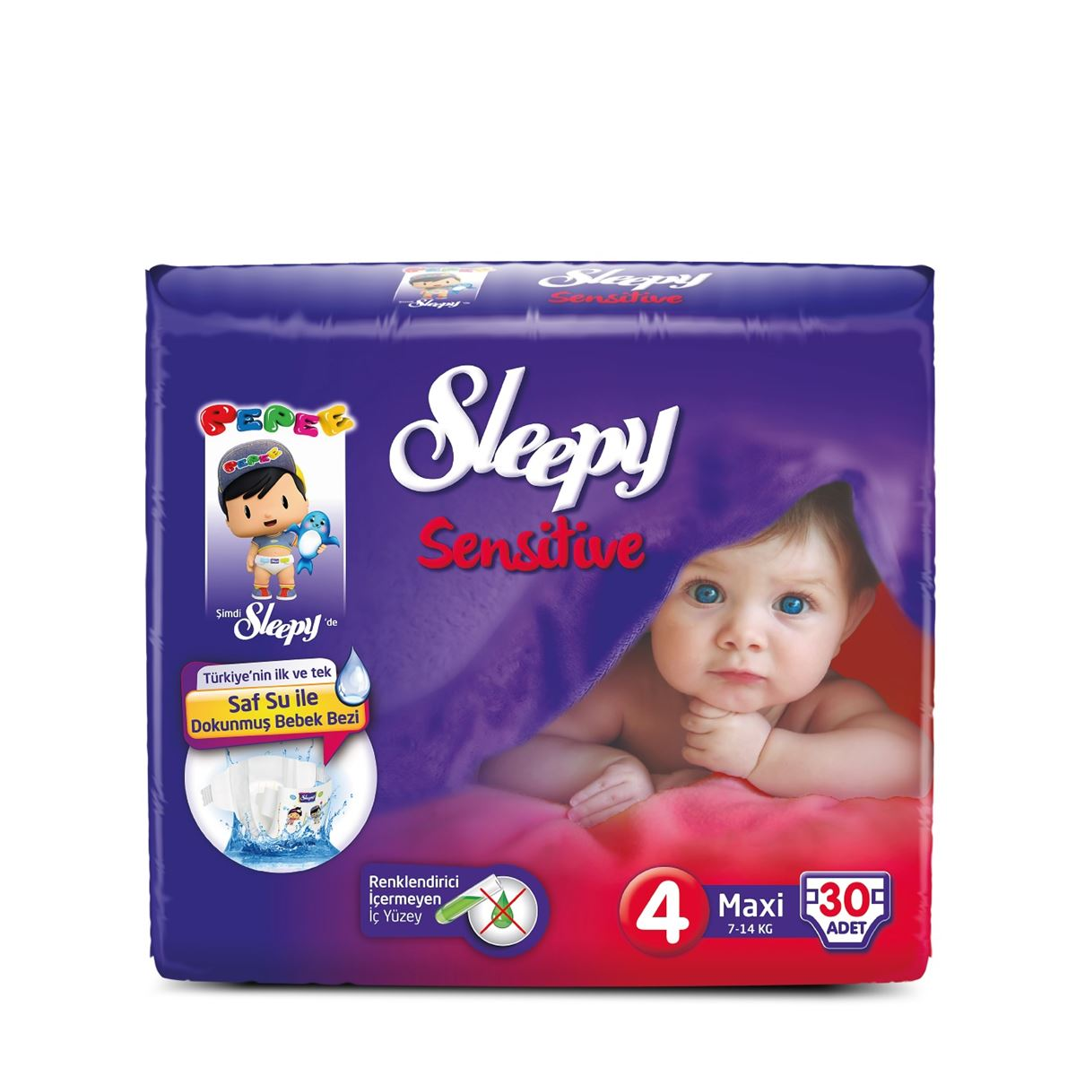 Sleepy Sensitive Pepee Maxi  4 Numara Bebek Bezi
