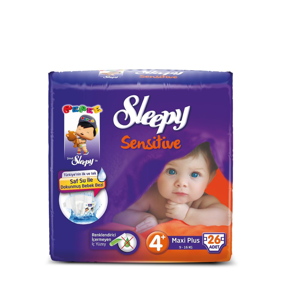 Sleepy Sensitive Pepee Maxi Plus 4+ Numara Bebek Bezi
