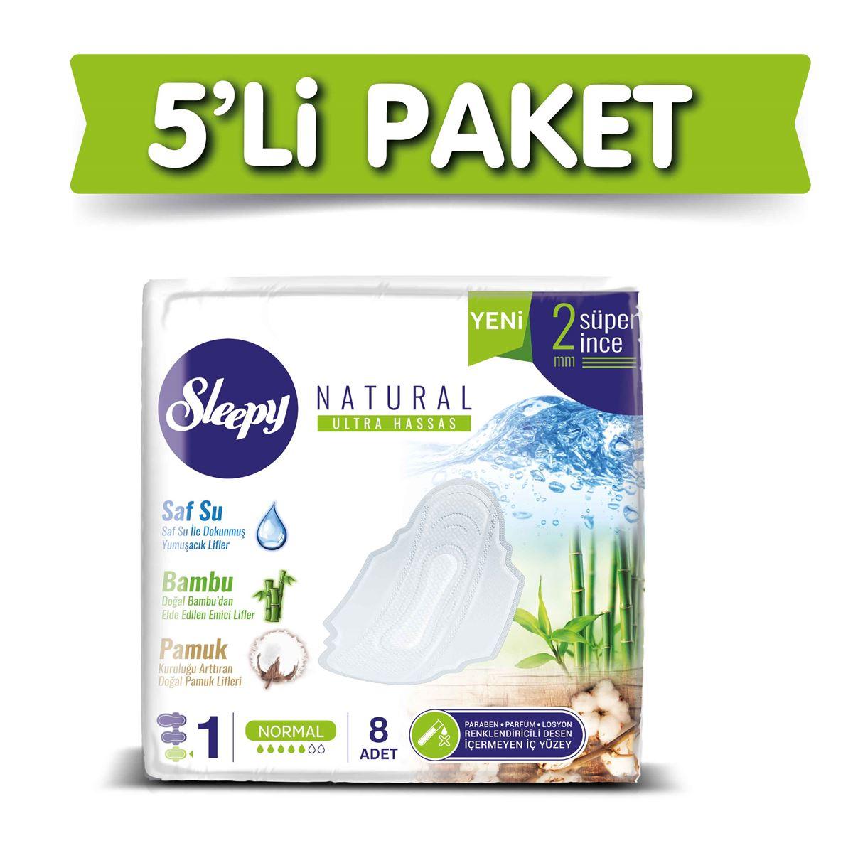 Sleepy Natural Ultra Hassas NORMAL (5x8 Ped)