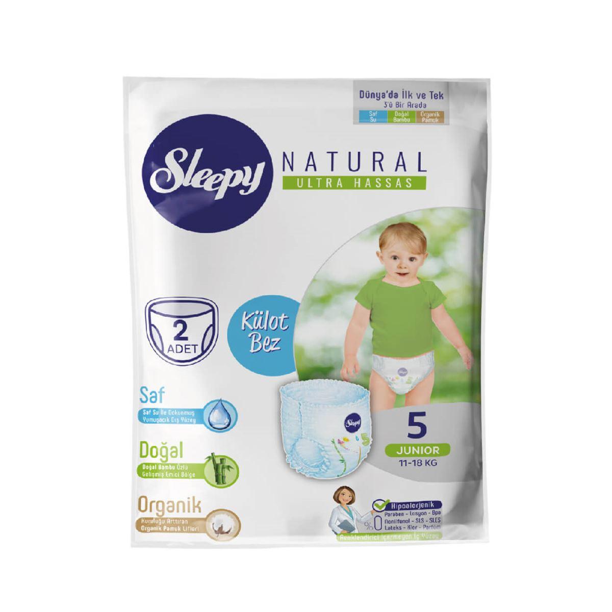 Deneme Paketi Sleepy Natural Külot Bez 5 Numara Junior