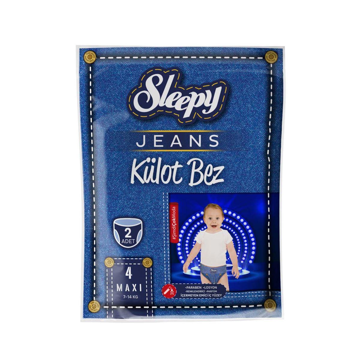Deneme Paketi Sleepy Jeans Külot Bez 4 numara Maxi