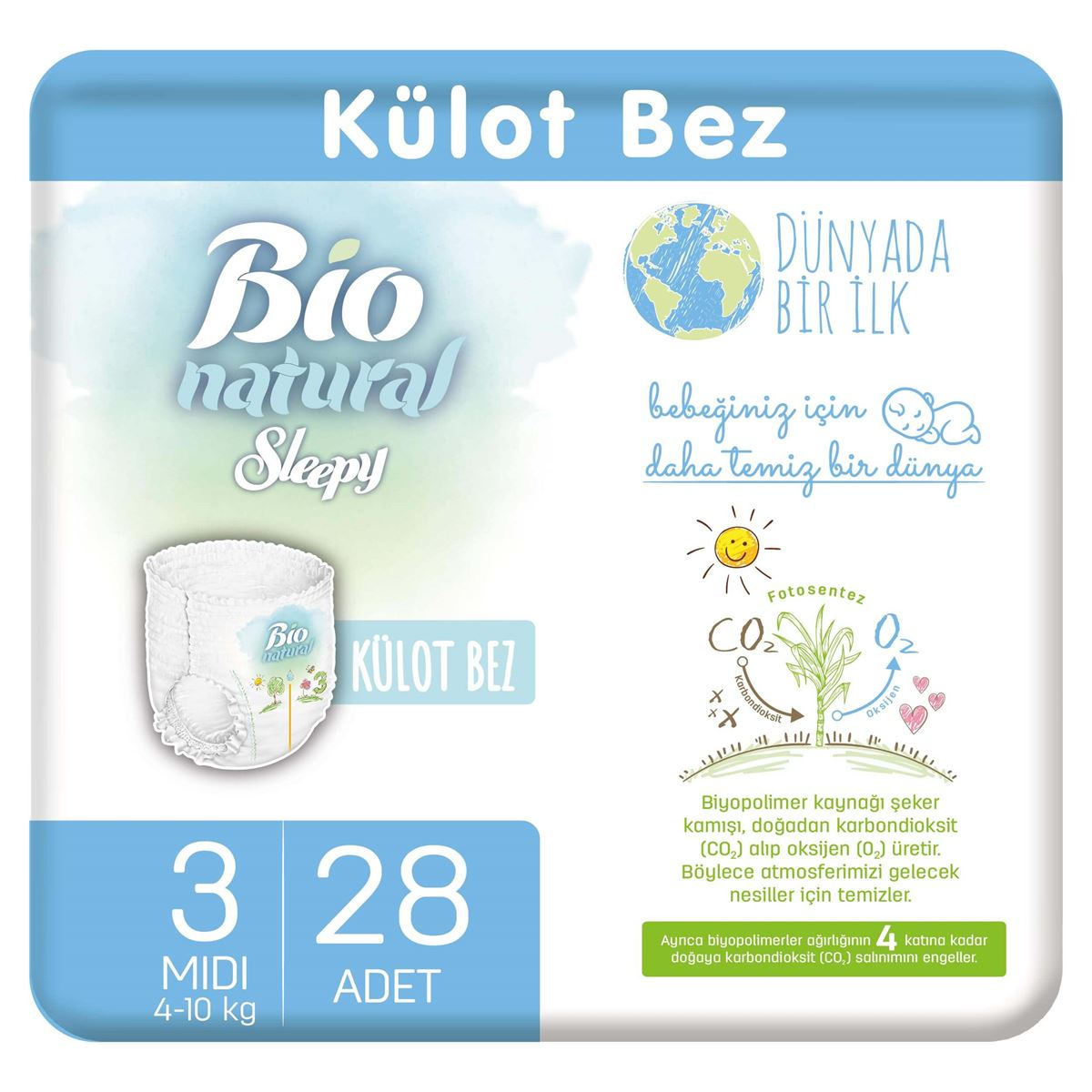Bio Natural Külot Bez 3 Numara Midi 28 Adet