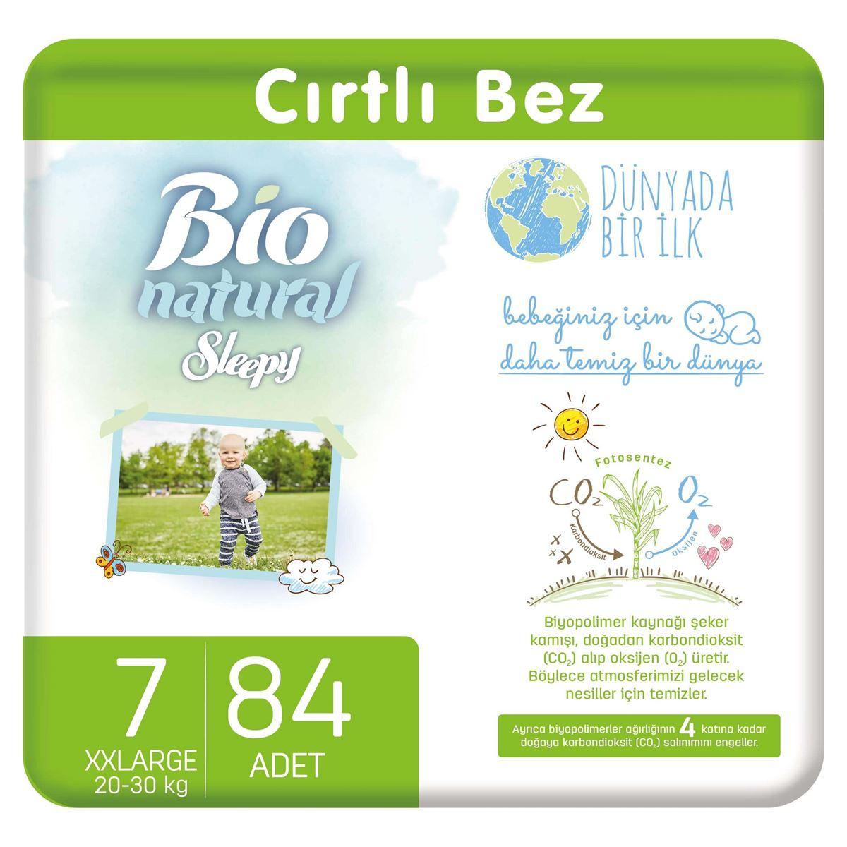 Bio Natural Bebek Bezi 7 Numara Xxlarge 84 Adet