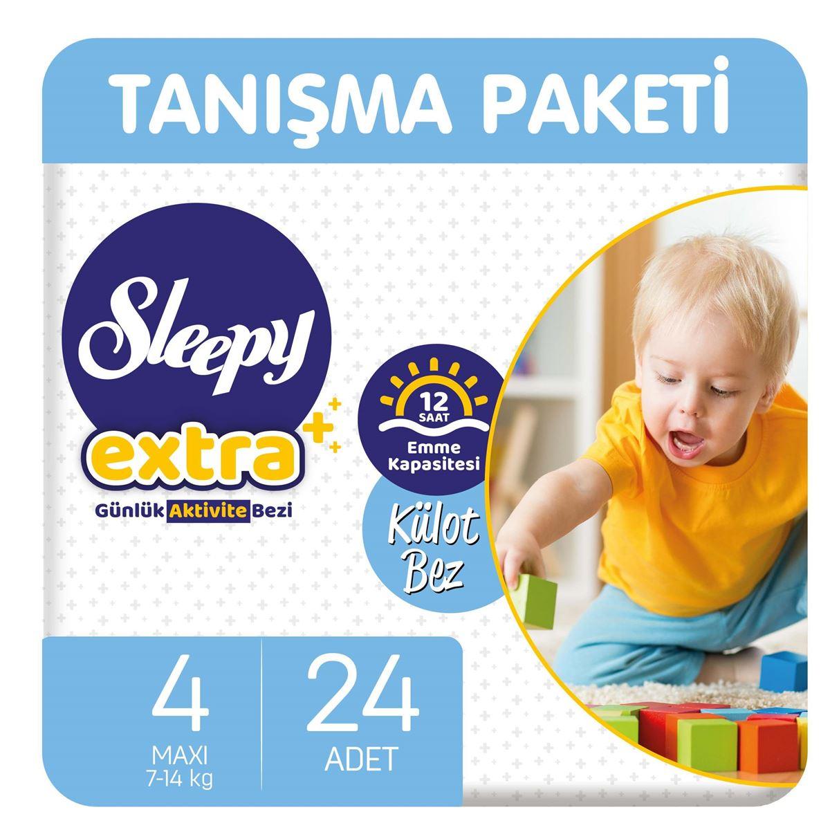 Sleepy Extra Günlük Aktivite Külot Bez 4 Numara Maxi 24 Adet