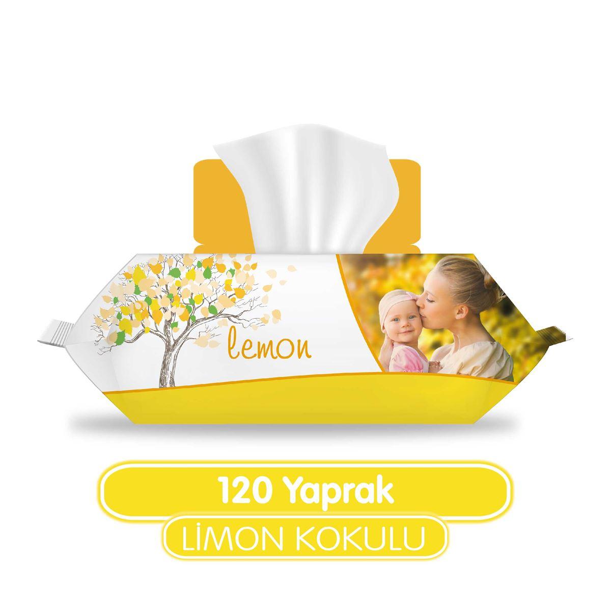 Sleepy Limon Kokulu Islak Havlu 120 Yaprak