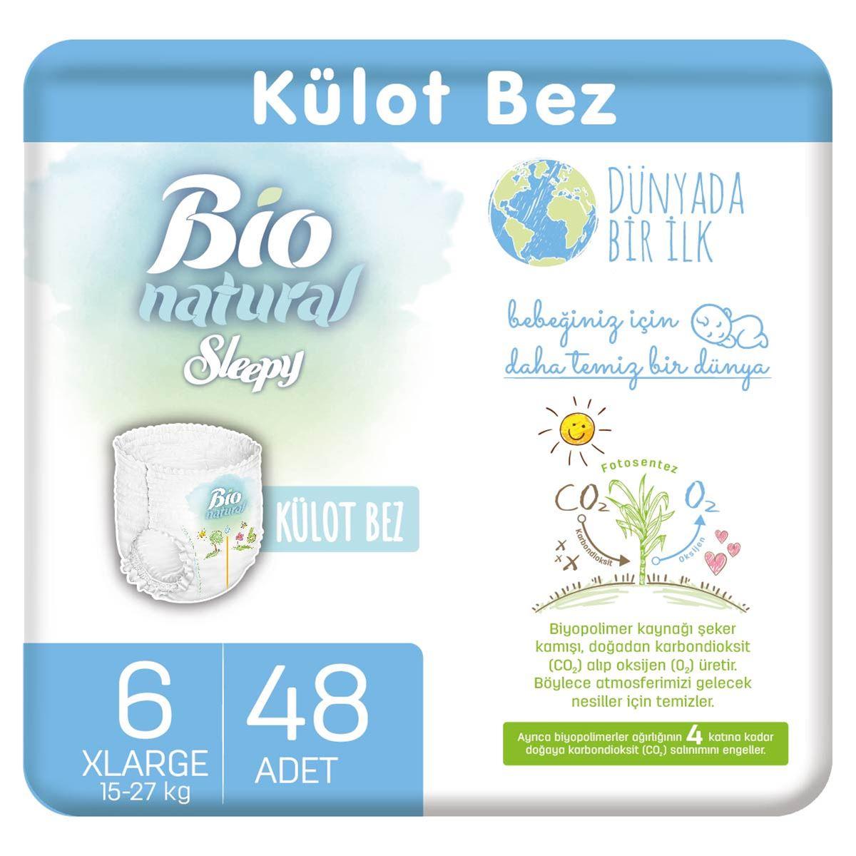 Bio Natural Külot Bez 6 Numara Xlarge 48 Adet