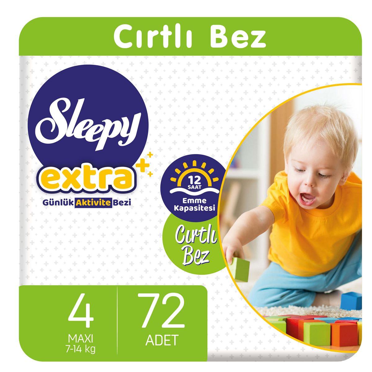 Sleepy Extra Günlük Aktivite Bezi 4 Numara Maxi 72 Adet
