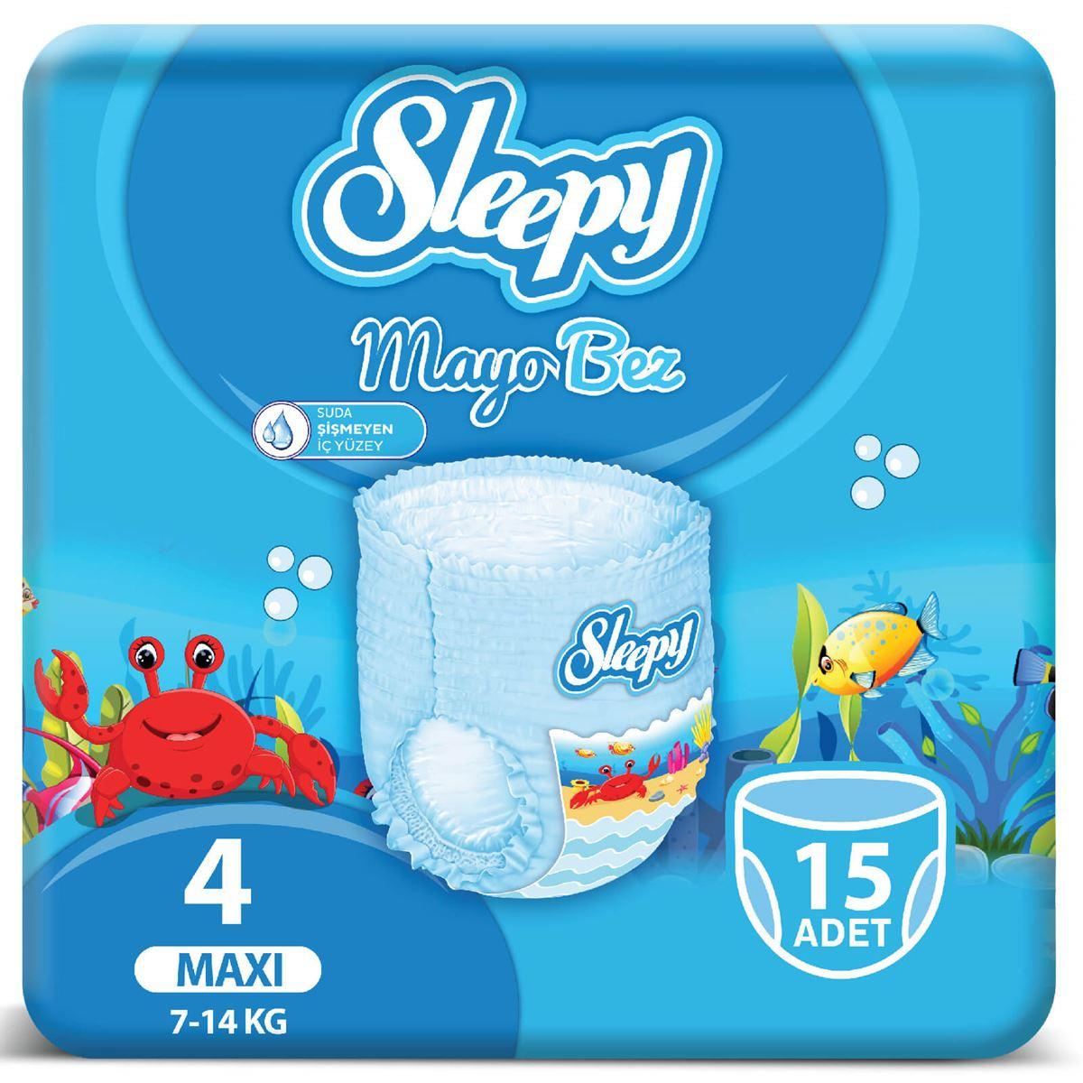 Sleepy Mayo KÜLOT Bez 4 Numara Maxi 15 Adet