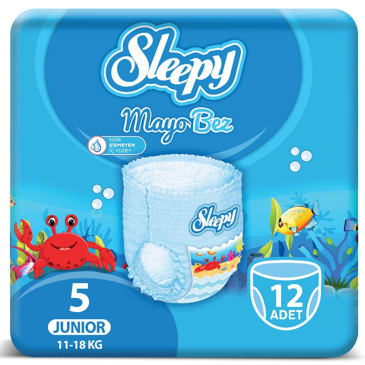 Sleepy Mayo KÜLOT Bez 5 Numara Junior 12 Adet