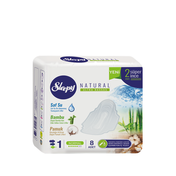 Sleepy Natural Ultra Hassas NORMAL (8 Ped)
