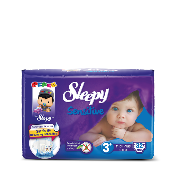Sleepy Sensitive Pepee Midi Plus 3+ Numara Bebek Bezi