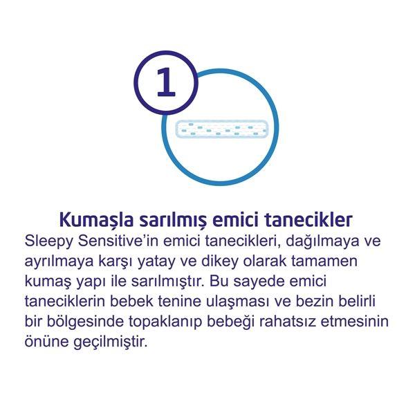 3'lü Jumbo Sleepy Sensitive Pepee Yenidoğan 1 Numara Bebek Bezi