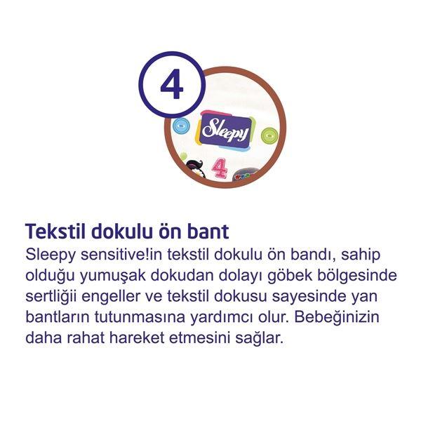 5'li Jumbo Sleepy Sensitive Pepee Yenidoğan 1 Numara Bebek Bezi
