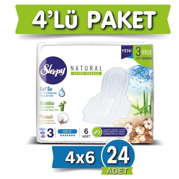 Sleepy Natural Ultra Hassas GECE (4x6 Ped)