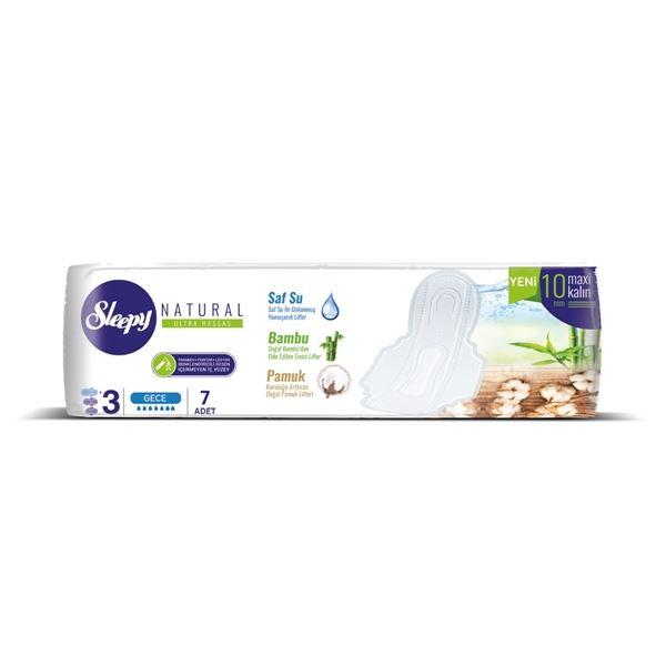 Sleepy Natural Ultra Hassas Maxi Kalın GECE (7 Ped)