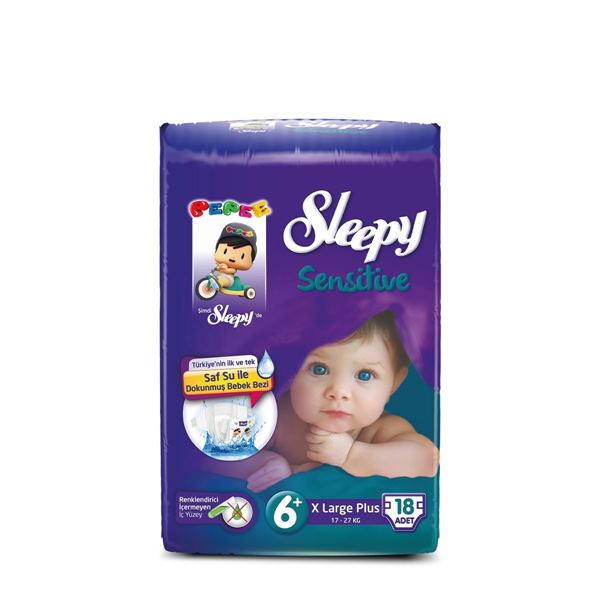 Sleepy Sensitive Pepee Xlarge Plus 6+ Numara Bebek Bezi