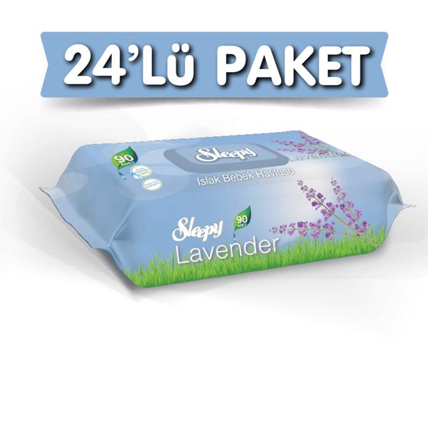 Sleepy Lavanta Kokulu Islak Havlu 24X90 lı