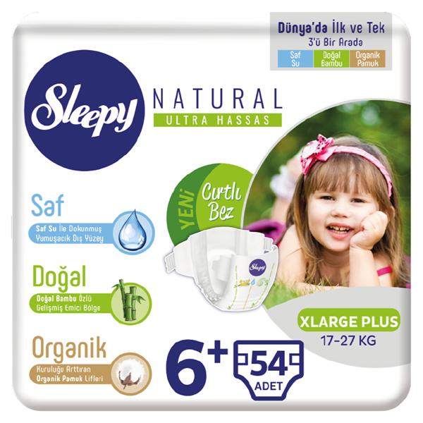 Sleepy Natural Bebek Bezi 6+ Numara Xlarge Plus 54 Adet