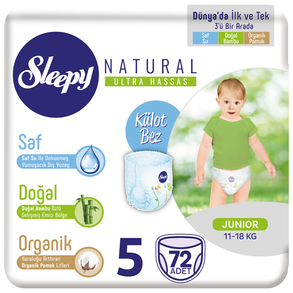 Sleepy Natural Külot Bez 5 Numara Junior 72 Adet