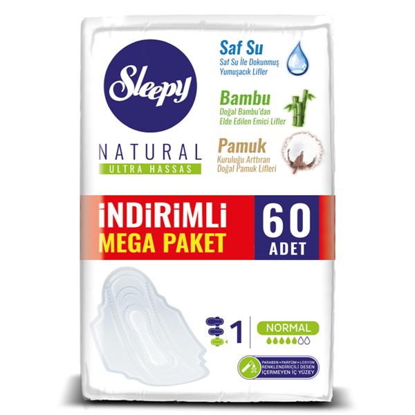 Sleepy Natural Ultra Hassas NORMAL (60 Ped) MEGA PAKET