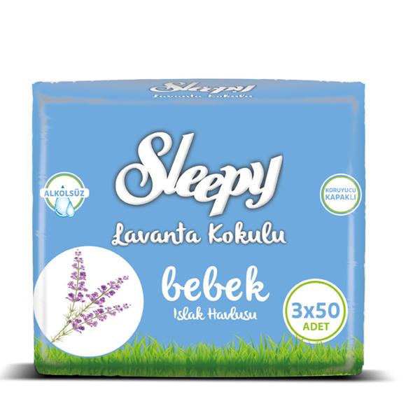 Sleepy Lavanta Kokulu Islak Havlu 3x50