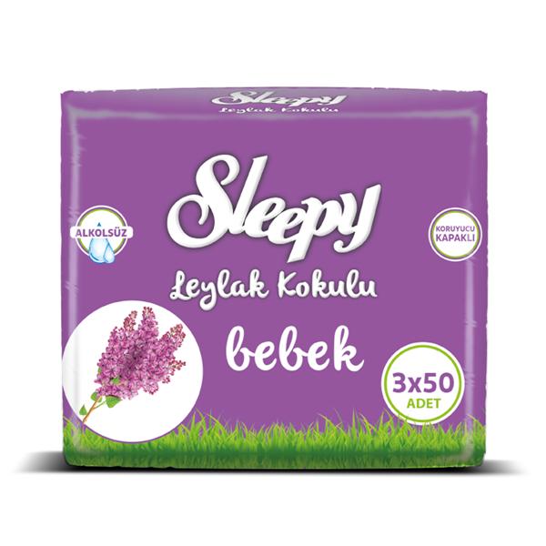 Sleepy Leylak Kokulu Islak Havlu 3x50