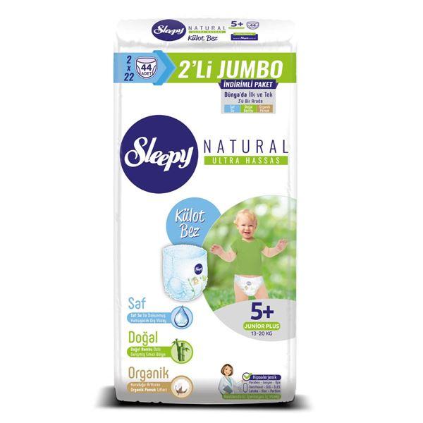 Sleepy Natural KÜLOT Bez 5+ Numara Junior Plus 2'Lİ JUMBO 44 Adet