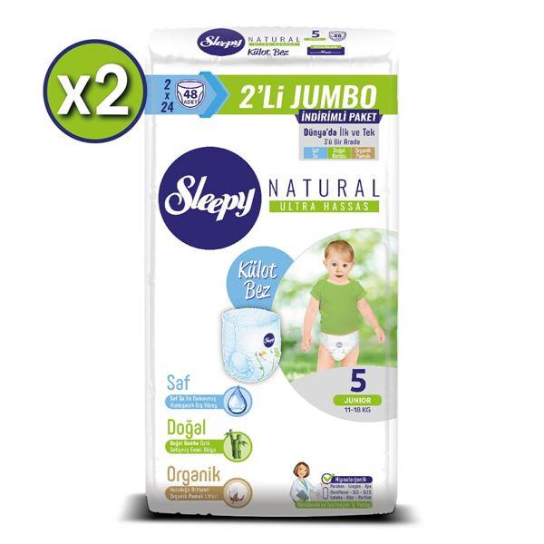 Sleepy Natural Külot Bez 5 Numara Junior 2X2'Lİ JUMBO