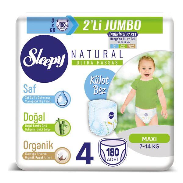 Sleepy Natural Külot Bez 4 Numara Maxi 3X2'Lİ JUMBO