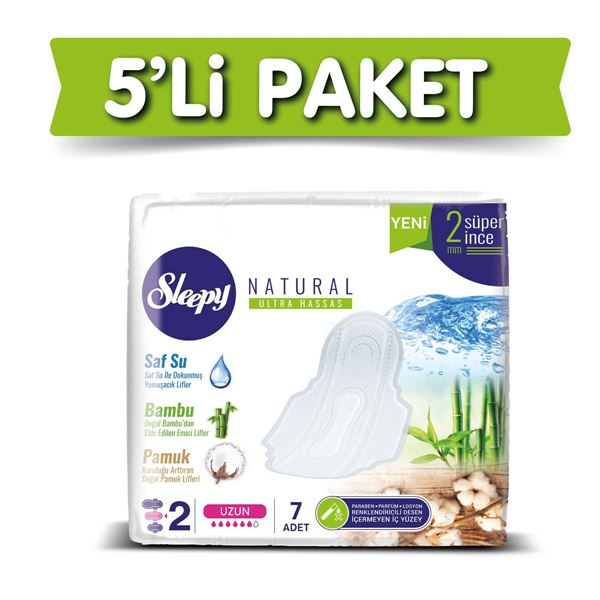 Sleepy Natural Ultra Hassas UZUN (5x7 Ped)