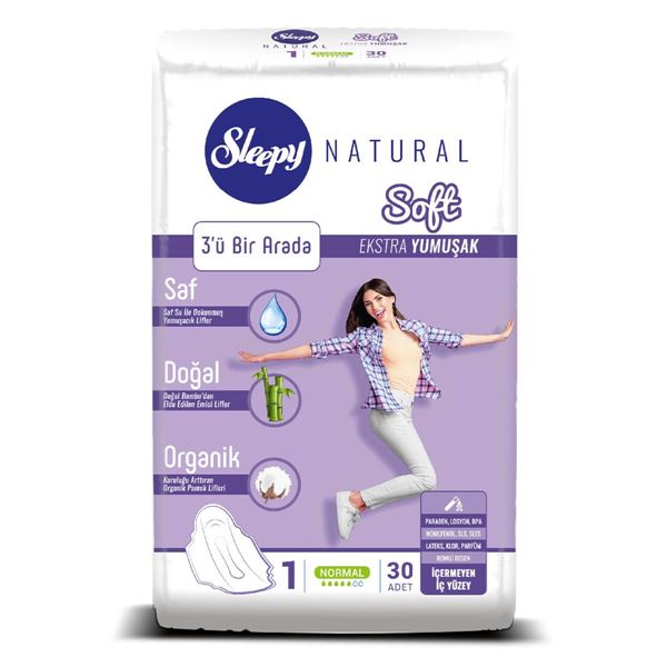 Resim Sleepy Natural Soft Ekstra Yumuşak Normal (30 Ped)