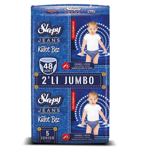Sleepy Jeans KÜLOT Bez 5 Numara Junior 2'Lİ JUMBO 48 Adet