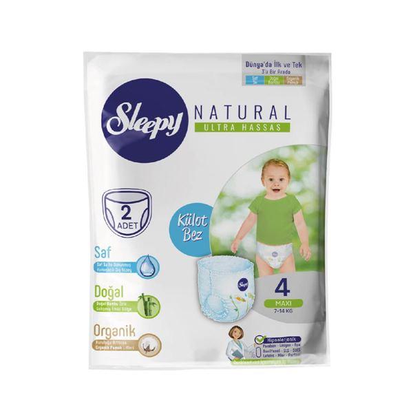 Deneme Paketi Sleepy Natural Külot Bez 4 Numara Maxi