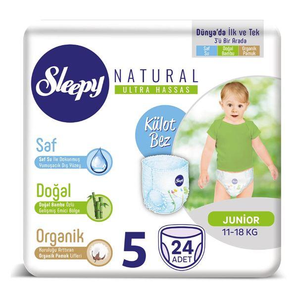Sleepy Natural KÜLOT Bez 5 Numara Junior 24 Adet