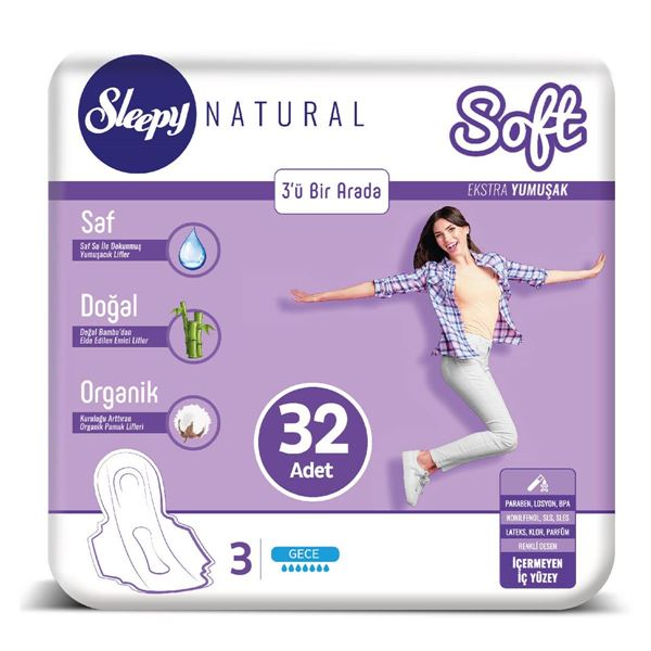 Sleepy Natural SOFT Ekstra Yumuşak Gece 32 PED