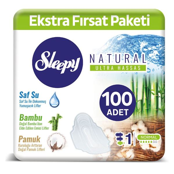 SLEEPY NATURAL MAXİ KALIN NORMAL (100 PED)