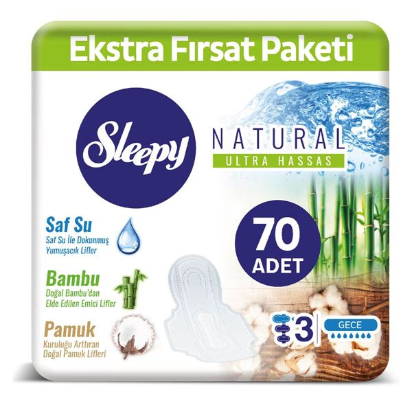 SLEEPY NATURAL MAXİ KALIN GECE (70 PED)