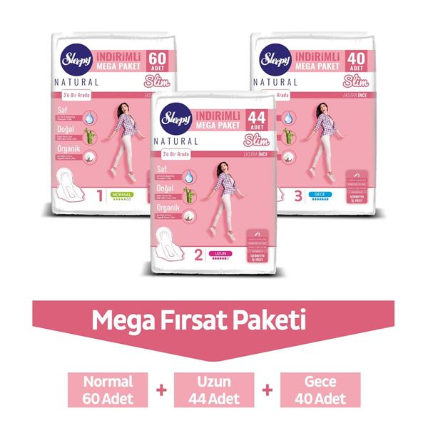 Resim Sleepy Natural Slim Ekstra İnce MEGA FIRSAT PAKETİ