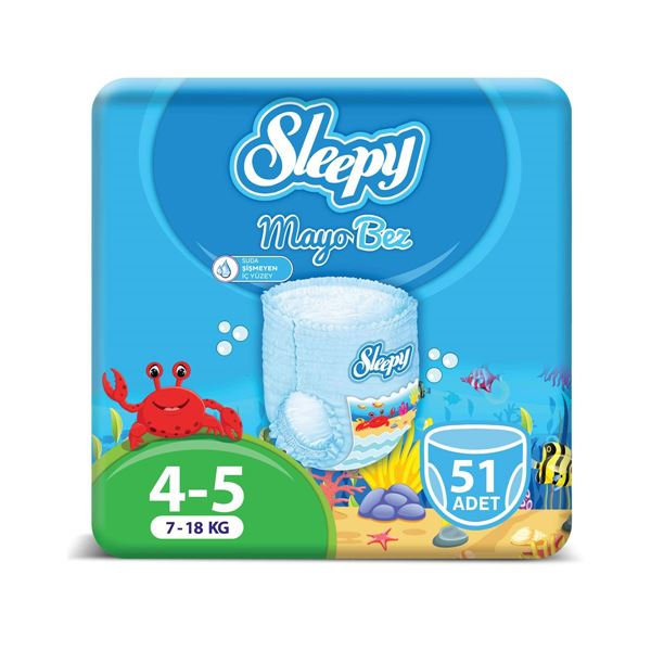 Sleepy Mayo KÜLOT Bez 5 Numara Junior 3'LÜ PAKET 51 adet