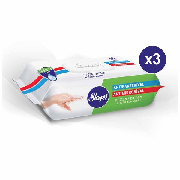 Resim Sleepy Antibakteriyel Islak Havlu 3X50