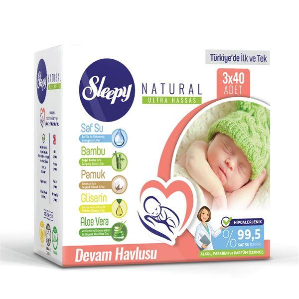 Resim Sleepy Natural Devam Havlusu 3x40 (120 Yaprak)
