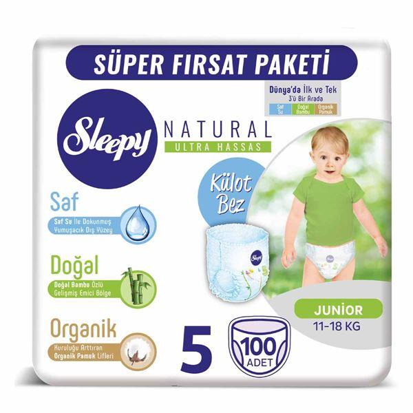 Resim Sleepy Natural KÜLOT Bez 5 Numara Junior 100 Adet