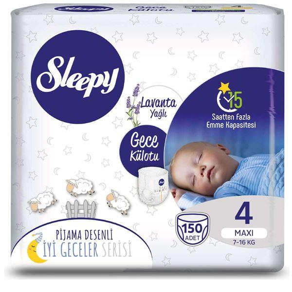 Sleepy Gece Külotu 4 Numara Maxi 150 Adet