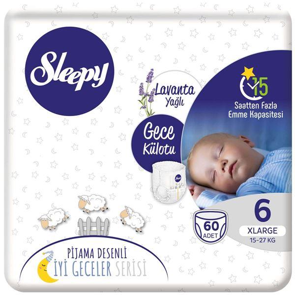 Resim Sleepy Gece Külotu 6 Numara Xlarge 60 Adet