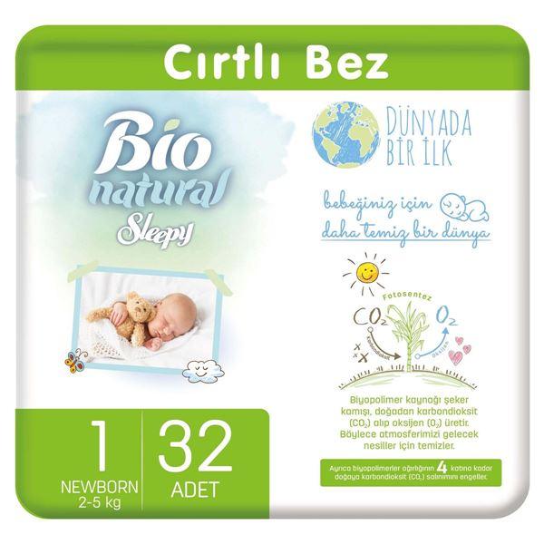 Bio Natural Bebek Bezi 1 Numara Yenidoğan 32 Adet