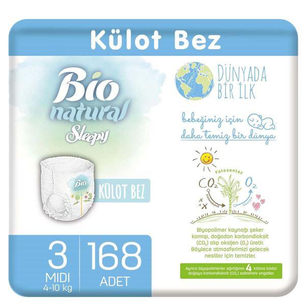 Resim Bio Natural Külot Bez 3 Numara Midi 168 Adet