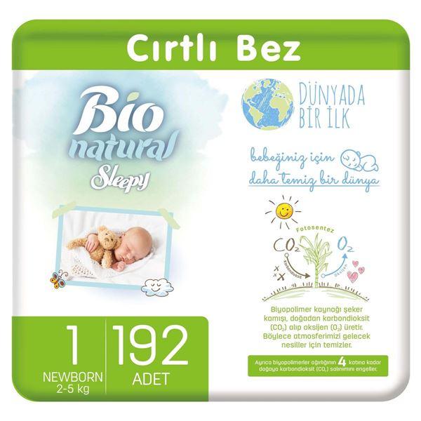 Resim Bio Natural Bebek Bezi 1 Numara Yenidoğan 192 Adet